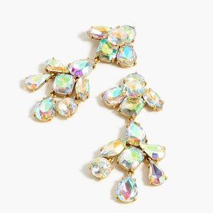 JCREW Crystal Cluster Chandelier Earrings NWT